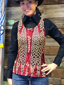 Load image into Gallery viewer, Dallas Show Vest - Burgundy - Henderson's Western Store