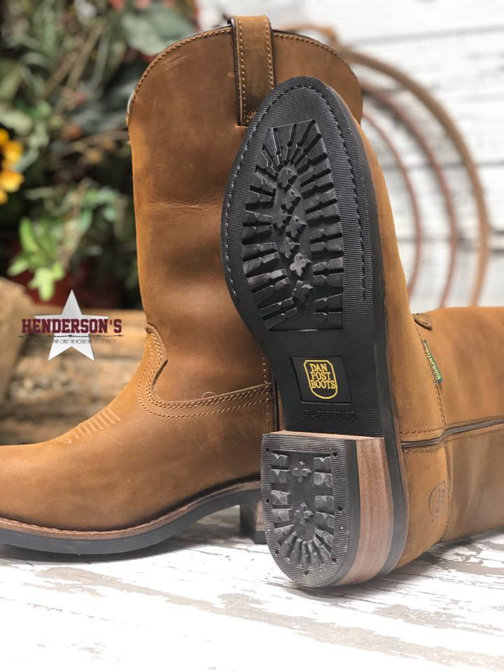 Men's Dan Post Brown Oily Boot - Henderson's Western Store