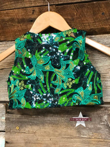 "Load image into Gallery viewer, Go Green ""Mini"" Youth Bolero - Henderson's Western Store"