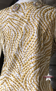 Load image into Gallery viewer, Custom Golden Zebra Print Show Vest - Henderson's Western Store
