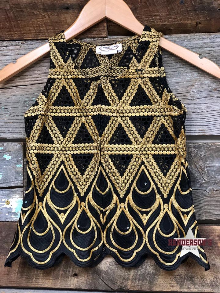 "Gold Triangles ""Mini""  Youth Show Vest - Henderson's Western Store"