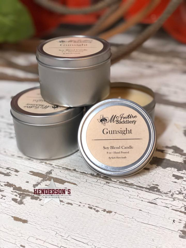 McIntire Saddlery Candles ~ Candle Tin - Henderson's Western Store