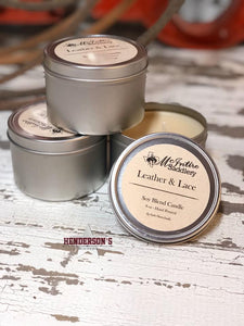 Load image into Gallery viewer, McIntire Saddlery Candles ~ Candle Tin - Henderson's Western Store