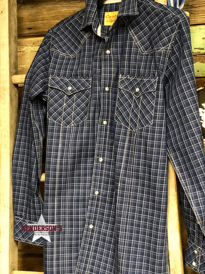 Cowboy Legend Plaid ~ Blue