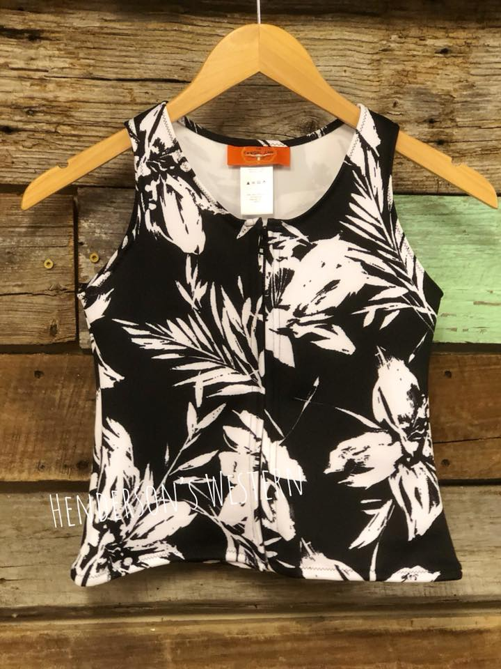 "Black & White Stretch ""Mini Me"" Vest - Henderson's Western Store"