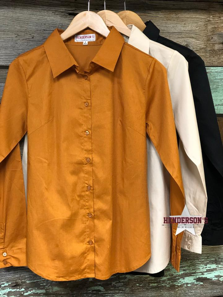 Missy Fit Solid Button Shirt - Henderson's Western Store