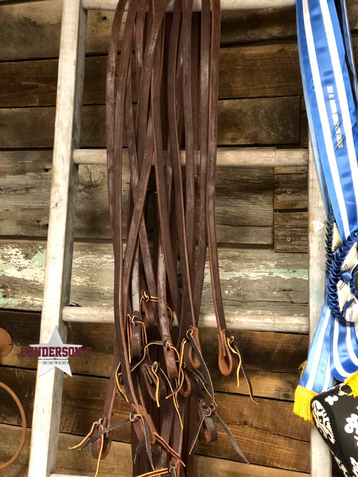 "Oiled Harness Reins ~ 5/8"" - Henderson's Western Store"
