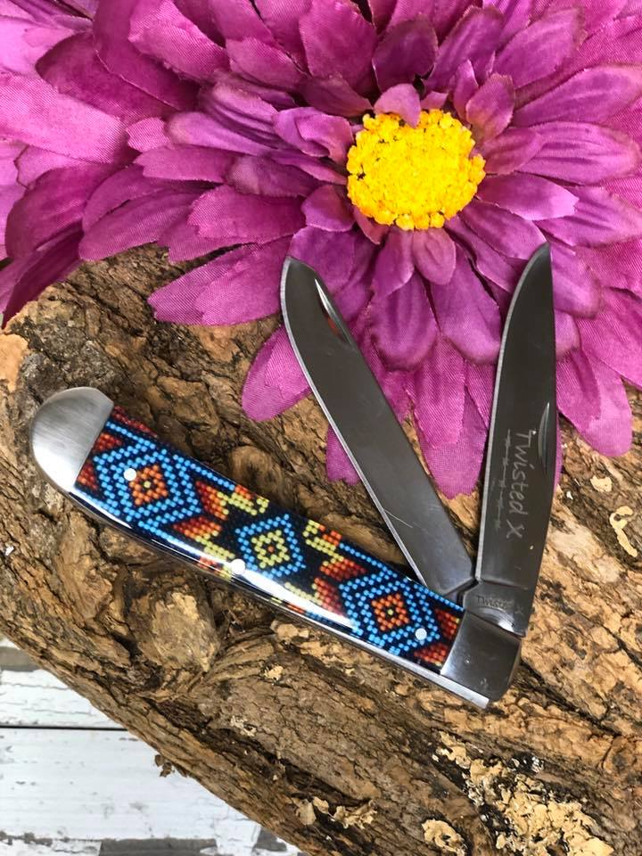 Twisted X Knife ~ OYB Beaded - Henderson's Western Store