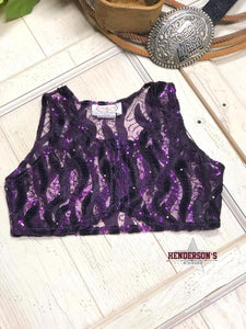 "Load image into Gallery viewer, Purple Velvet Youth ""Mini"" Bolero - Henderson's Western Store"