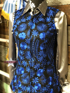 Load image into Gallery viewer, Royal Flowers Show Vest - Henderson's Western Store