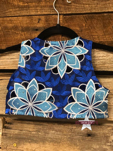 "Load image into Gallery viewer, Royal W/Teal Flowers Youth ""Mini"" Bolero - Henderson's Western Store"