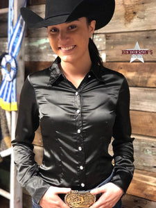 Load image into Gallery viewer, Silk Winning Show Shirt ~ Black - Henderson's Western Store
