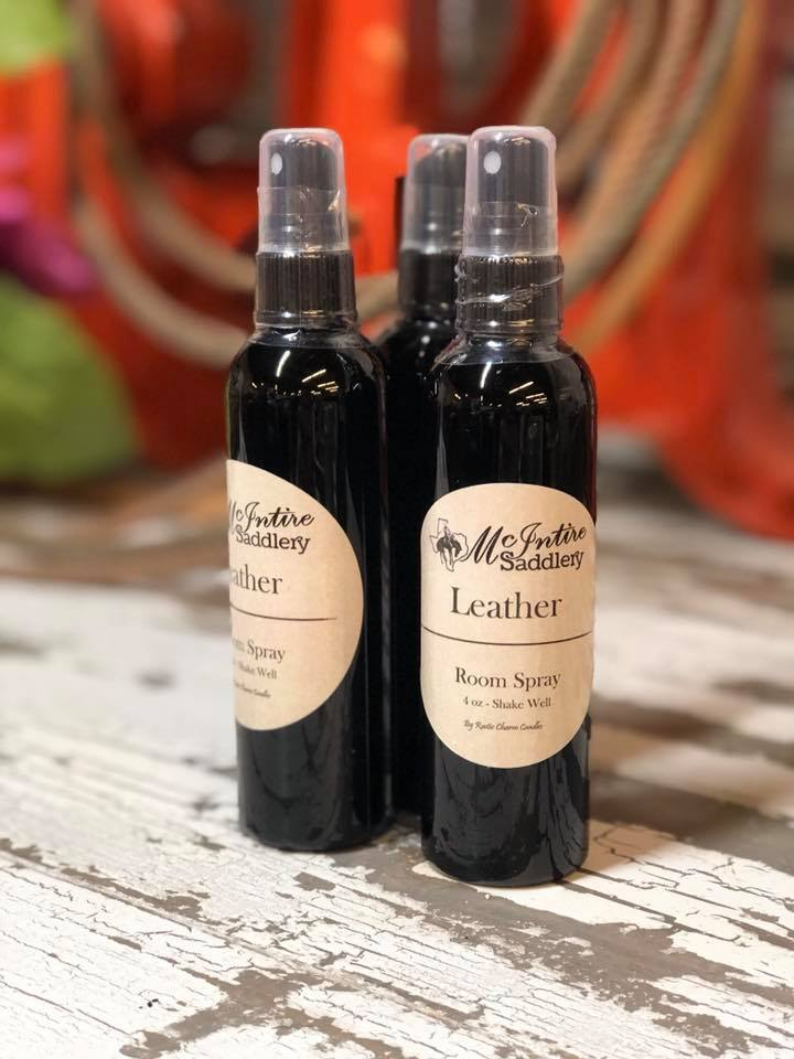 McIntire Saddlery Candles ~ Sprays ~ Leather - Henderson's Western Store
