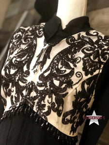 Load image into Gallery viewer, Black Elegance Bolero (No fringe on shoulder) - Henderson's Western Store