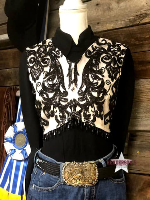 Black Elegance Bolero (No fringe on shoulder) - Henderson's Western Store