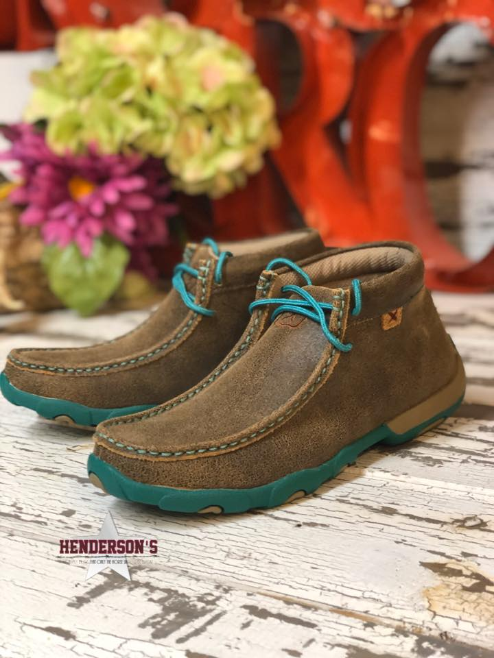 Women's Turq Fever Driving Moc - Henderson's Western Store