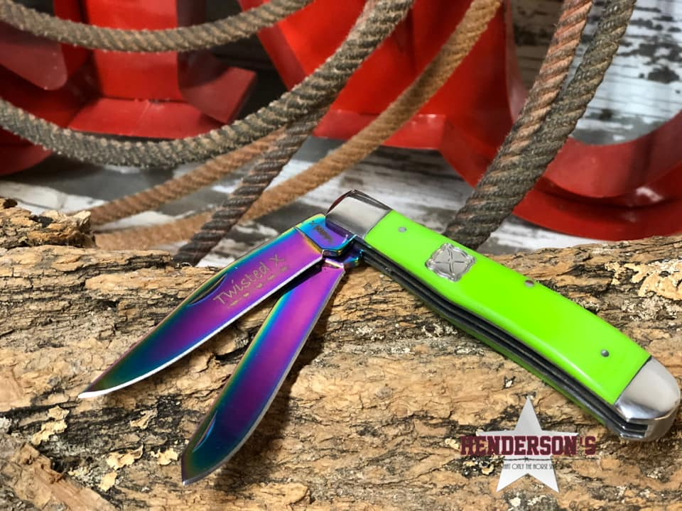 Twisted X Knife ~ Lime - Henderson's Western Store
