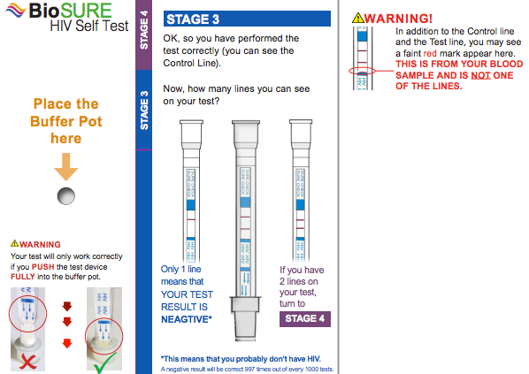 BioSURE HIV Self Test Kit - Reading your Results - Stage 3