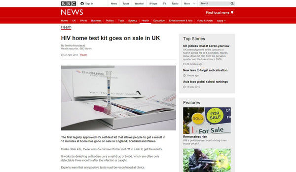 HIV Home Test Kit goes on sale in UK - BBC News Screenshot