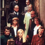 Dark Shadows: Cast on Stairs