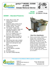 Load image into Gallery viewer, GOS80- 25 GPM Automatic Grease Removal Device - Goslyn
