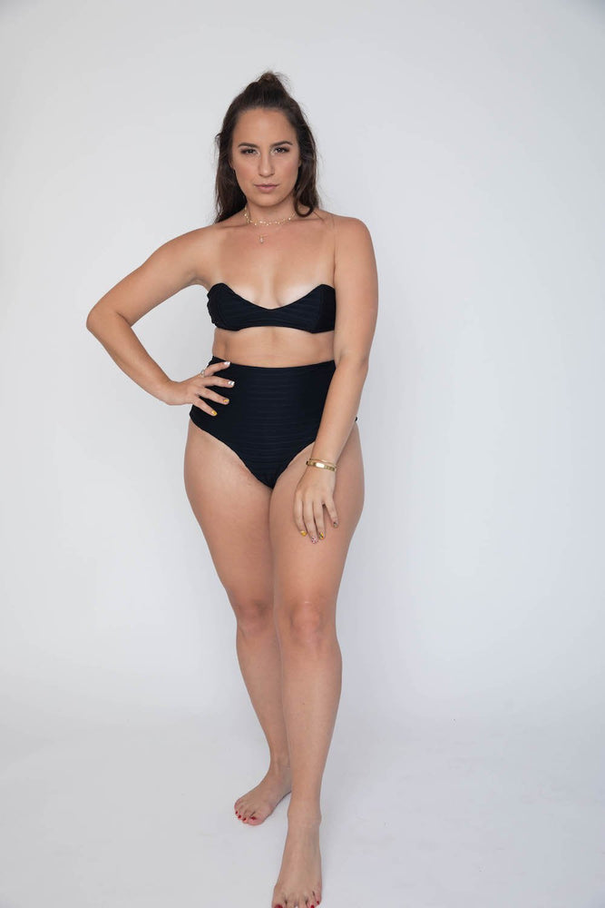 Black sweet heart bandeau top