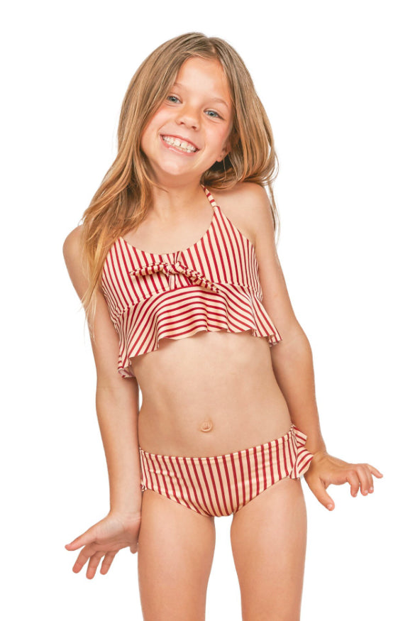 Kids halter striped set