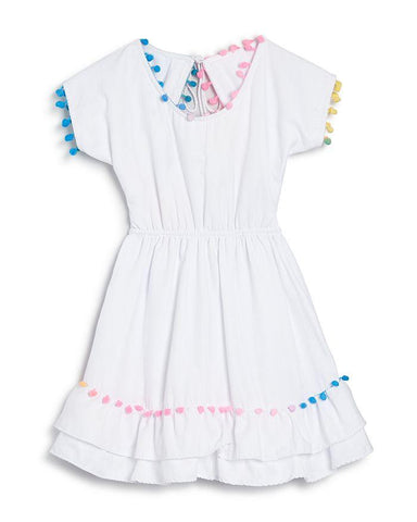 Kids White Coverup Dress