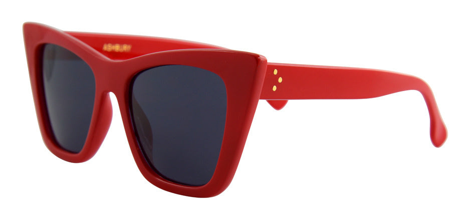Red square cat eye glasses