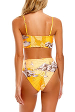 High Waisted Printed Bikini Bottom
