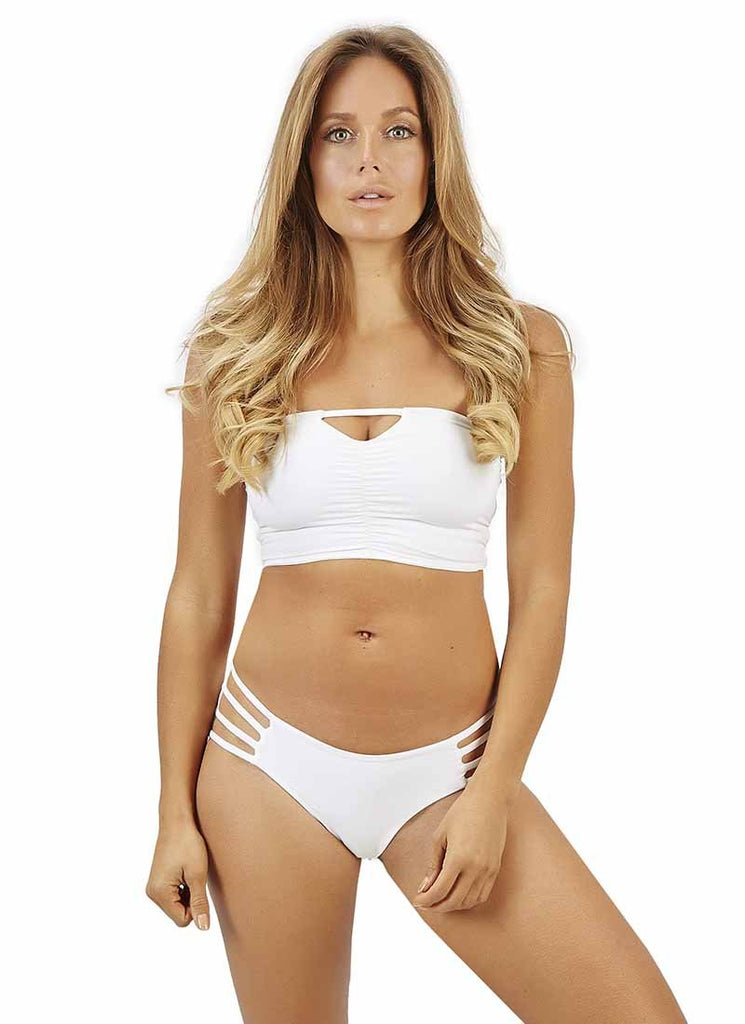 White reversible bandeau top