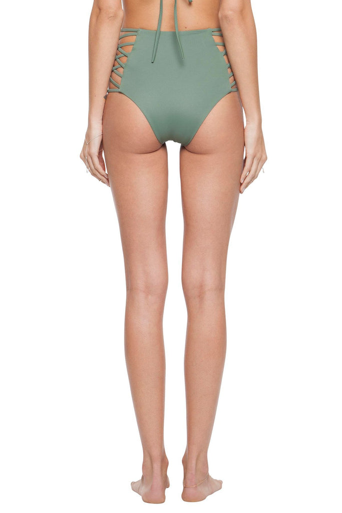 Green high waisted cut out bottoms