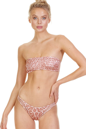 Load image into Gallery viewer, Cheetah bandeau top
