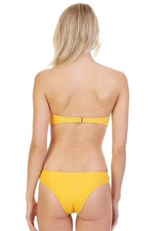 Load image into Gallery viewer, Yellow textured bandeau