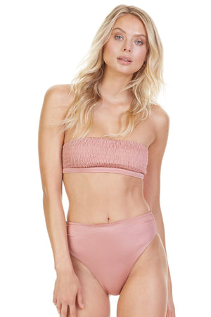 Load image into Gallery viewer, Rose gold smocked bandeau