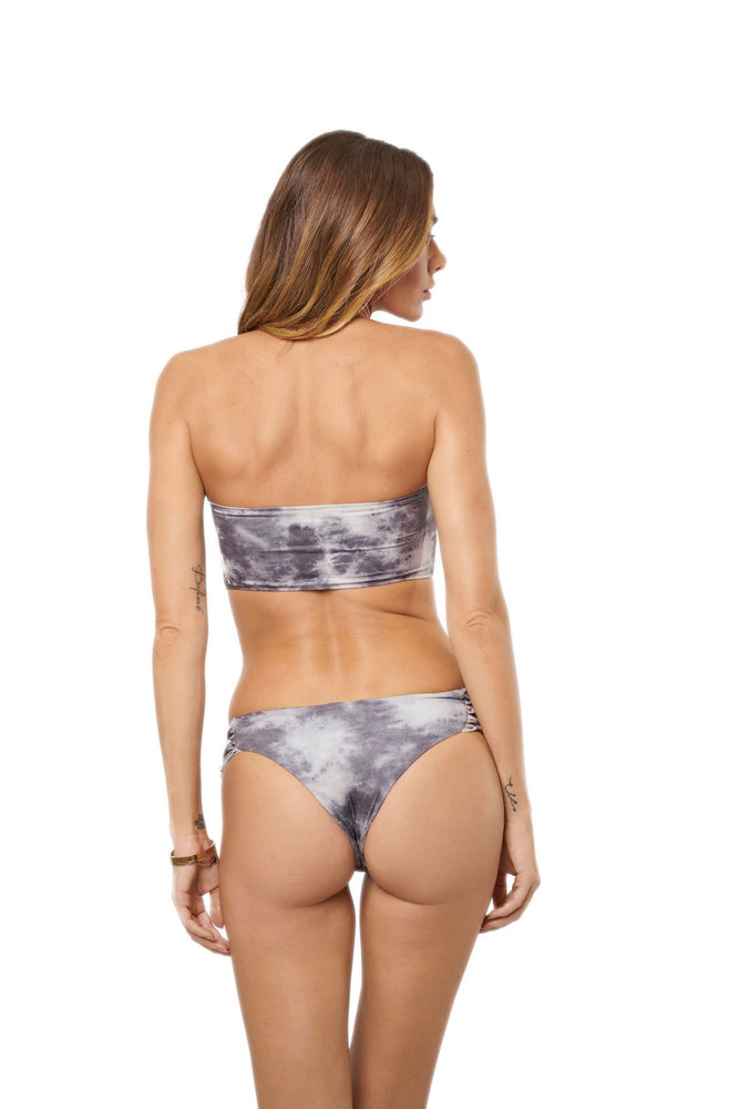 Grey tie-dye cheeky bottoms