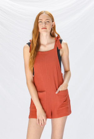Load image into Gallery viewer, Blood Orange Romper