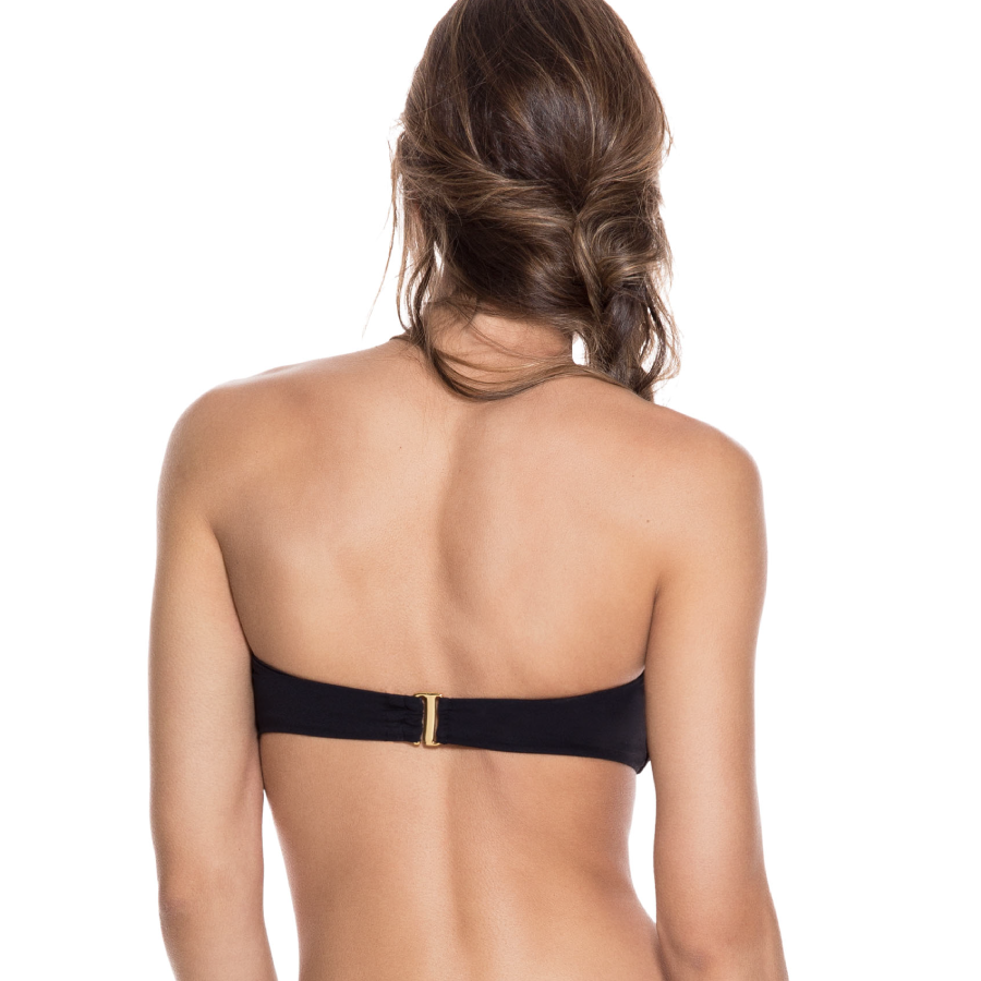 Load image into Gallery viewer, Black Bandeau Top