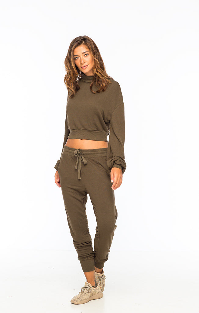 Indah Sweats Army Green