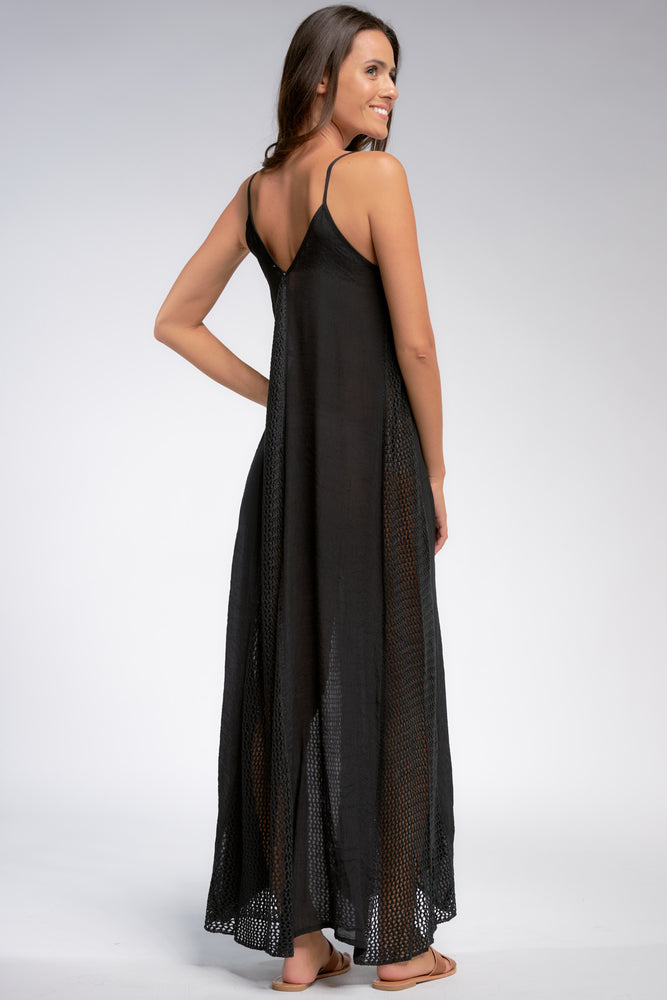 Load image into Gallery viewer, Black Coverup Dress