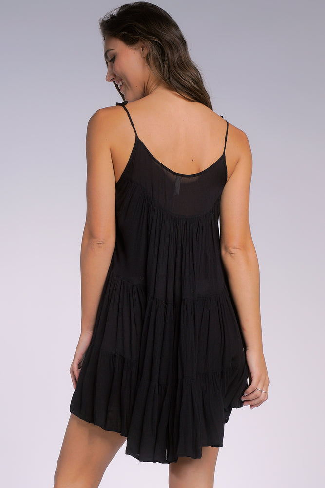 Load image into Gallery viewer, Short Black Coverup Dress