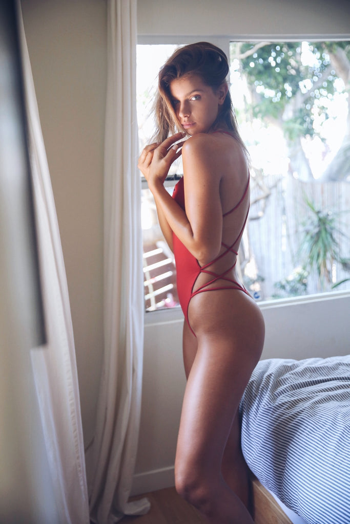 Whip cream One piece  Red