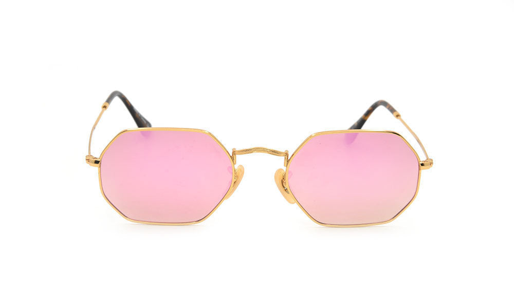 Pink thin hexagon glasses