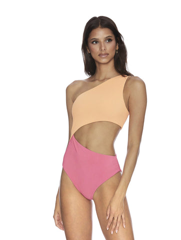 Orange and pink cut out one piece