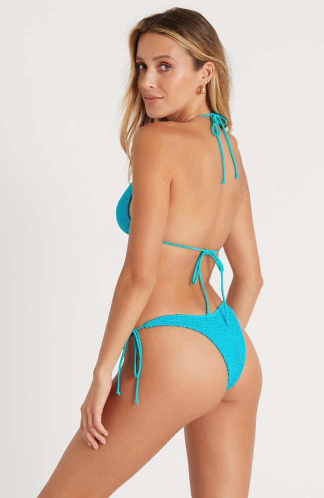 Neon Blue Tie Side Cheeky Bottom