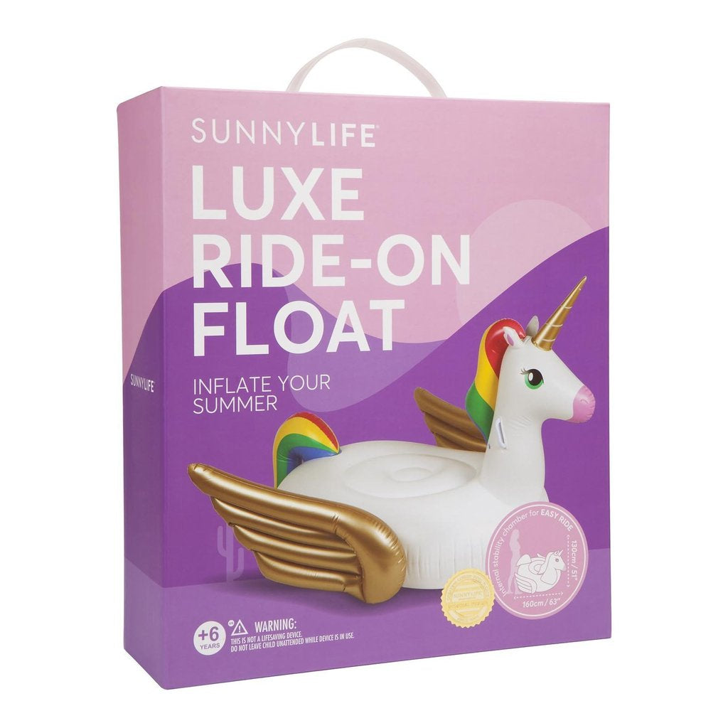 Luxe Ride On Unicorn Float