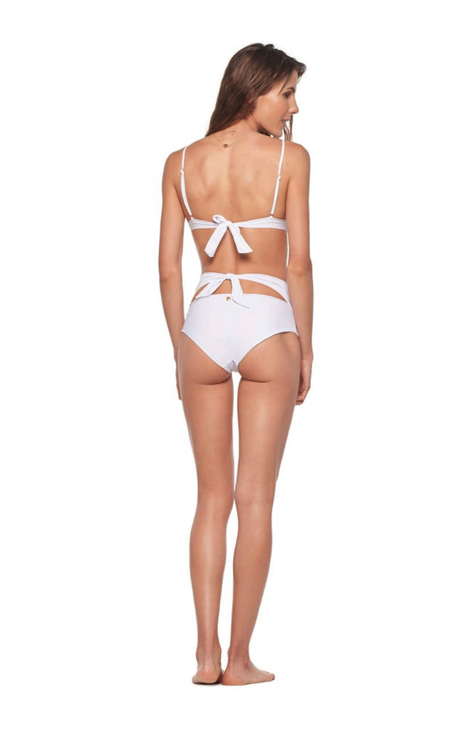 White high waisted bottoms