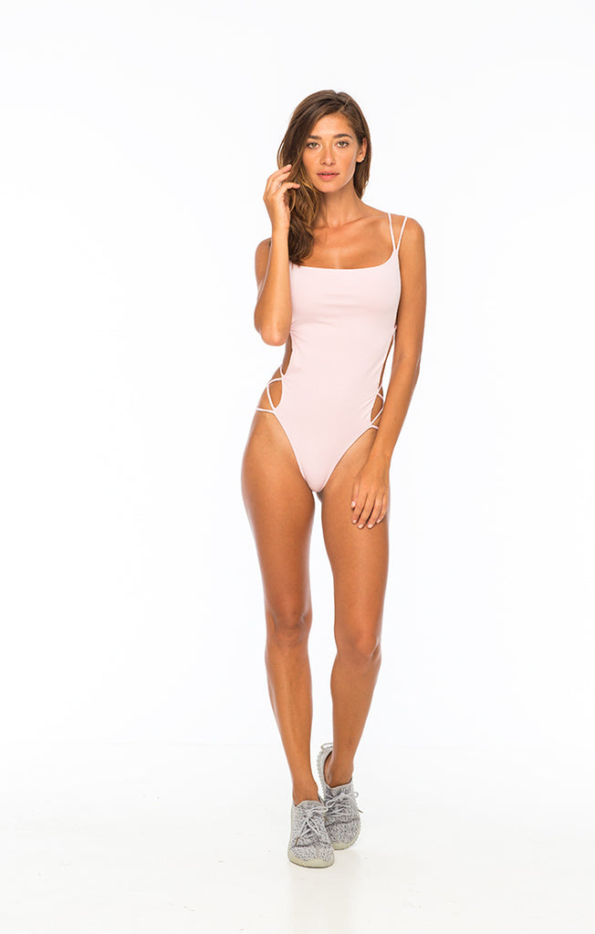 Pink Strappy one piece
