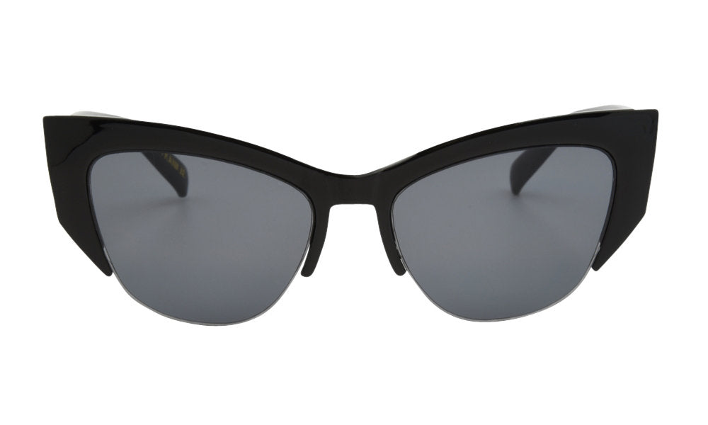 Black thick cat eye glasses