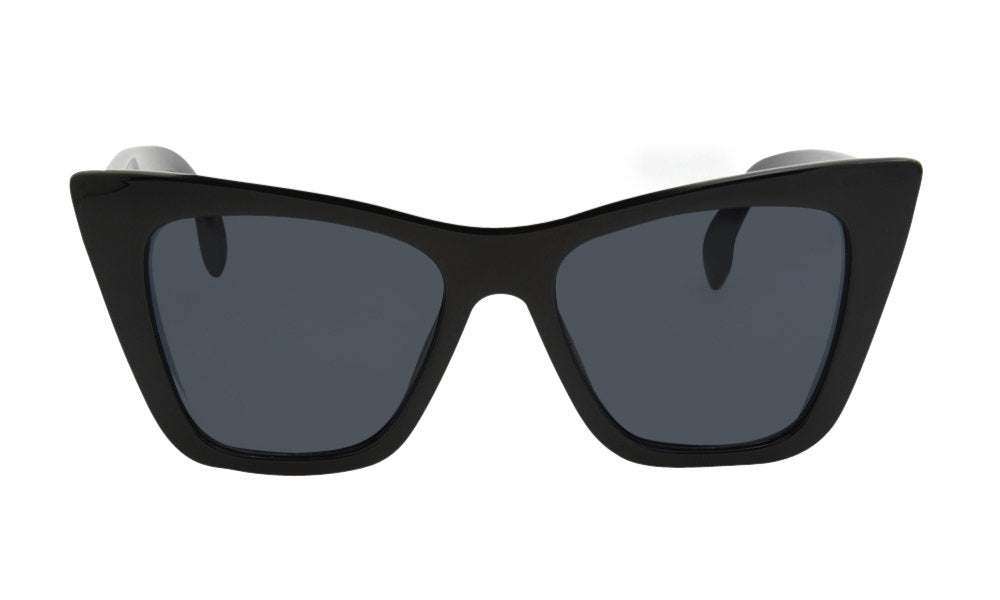 Load image into Gallery viewer, Black square cat eye glasses